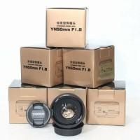 lensa fix yongnuo YN50mm f1.8 for canon kamera camera murah