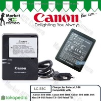 Charger Canon LC-E8C for LP-E8 (EOS 550D, 600D, 65 kamera camera murah