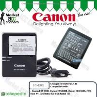 Charger Canon LC-E8C for LP-E8 (EOS 550D, 600D, 65 kamera camera murah