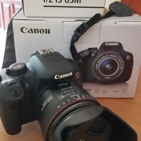 Jual Kamera Canon 700D dan Lensa Canon Fix EF 35mm f2 IS USM