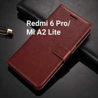 Flip Cover Xiaomi Redmi 6 Pro MiA2 Lite Wallet Leather Case Casing HP