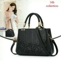 Handbag Flowery Bordir Tas Selempang Wanita Murah Tas Kerja Fashion
