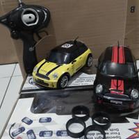 R/C MOBIL DRIFT 4WD BODY METAL MINI COOPER 1:24 / mainan edukasi anak