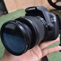 Canon 1200d + lensa fix 50mm yongnuo fullset mulus kamera