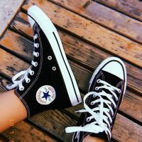 Sepatu Converse All Star High Hitam / Black Grade Original