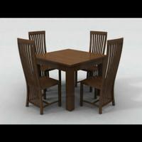 Kursi makan,set meja makan,kursi makan jati