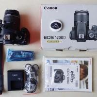 Kamera Canon 1200D 1200 D & Lensa Kit EF-S 18-55mm III Istimewa SC Low