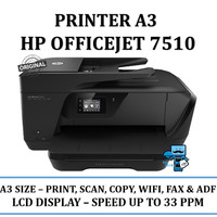 Printer A3 HP OJ7510 Officejet - Print, Scan Copy, Fax, WiFi & ADF