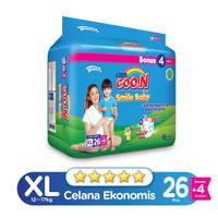 Goo.N Smile Baby Pants Wonderline Super Jumbo XL isi 26+4 (Bonus Pack)