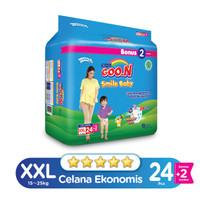 Goo.N Smile Baby Pants Wonderline Super Jumbo XXL isi 24+2 (Bonus Pack