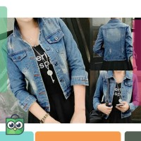 [BL] JAKET Jeans Prada ripped jacket / jaket jeans sobek ripped
