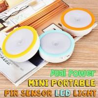 Dual Power Mini Portable PIR Sensor LED Light / Motion Lamp