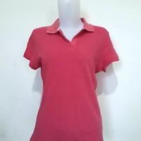 Kaos Wanita - Polo Shirt - T-shirt - Giordano - Pink Berkualitas