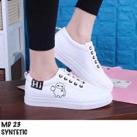 Sepatu sneakers karakter MD 23 sintetic ~ putih kekinian murah