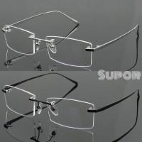 Frame FL10 kacamata 100% Titanium + Lensa Essilor Airwear Flattop b2fd512cad