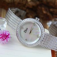 Jam tangan wanita Merk Christian Dior type AL 8623 stainless