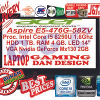 Laptop Acer Aspire E5-476G-INTEL I5-8250U-VGA NVDIA GT MX130-4GB-1TB