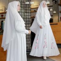 Harga putih gamis set ceruti rose bordir syari limited baju busana | Pembandingharga.com