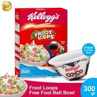 Kelloggs Froot Loops 300g FREE Foot Ball Bowl
