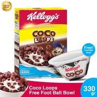 Kelloggs Coco Loops 330g FREE Foot Ball Bowl