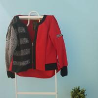 Harga oline workrobe apw top shirt sleeve zipped cardi | Pembandingharga.com