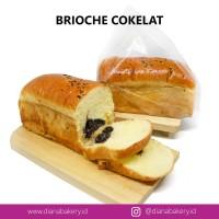 Brioche Cokelat | Roti Coklat | Makanan Ringan | Cemilan Sehat | Kue