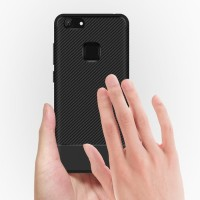 Softcase Serat Carbon Fiber Premium Skin Cover Case Casing HP Vivo V7