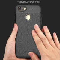 Softcase Carbon Leather Fiber Skin Cover Case Casing HP Oppo F7
