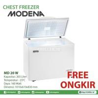 Chest Freezer Modena MD 20 W (200 Liter) Free Ongkir