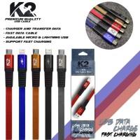 kabel data K2 PREMIUM QUALITY MICRO USB GOOD QUALITY FAST CHARGING 2A