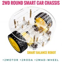 2WD Smart Car Chassis Smart Balance Robot Acrylic Case DIY KIT Arduino