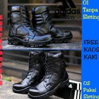 Sepatu Boots Pdl Tni Polri Satpam Adidas Kulit Asli Ujung BesiU002F