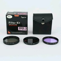 Filter Kit 77mm Mod.3 Optic Pro 3pcs for Lensa Canon Nikon Son SALE