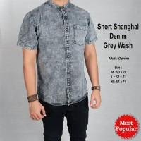 Short Shanghai Denim Grey Wash