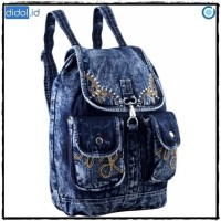 Tas Wanita Ransel Backpack Denim Jeans GLFR 5043 FG 28d391c9ca