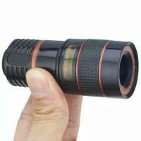 Jual Lensa Telezoom Telescope 8x For HP Smartphone Tele Zoom Jepit Focus Murah