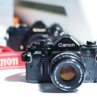 Kamera Analog Canon A1 Normal LM Akurat Lensa FD 50mm F1.8