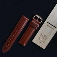 Leather Strap DW in Red Brown LD-RB with Rose Gold Buckle