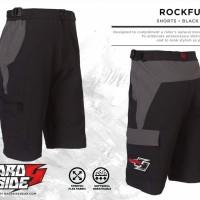 Celana Pendek Sepeda MTB Hardside ROCKFUZZ blackgrey
