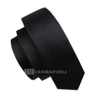 VM - Dasi slim hitam 2 inch - black tie