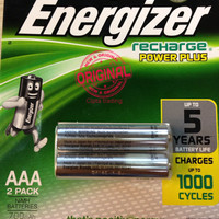 Energizer - AAA Rechargeable Battery (2 Pieces Pack)