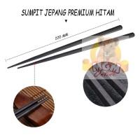 Sumpit Jepang PREMIUM hitam 22CM / Japanese Chopstick PREMIUM 1 pasang