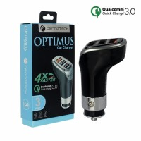 Cennotech 3 USB Port Car Charger Optimus Qualcomm / Charger Mobil