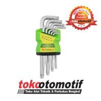 Kunci L Set Bintang Pendek (Lubang) 9pcs T10-T50 NANKAI / Star Hex