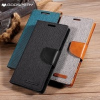FlipCover Canvas Diary Case Samsung Galaxy A6+ Plus 2018/Dompet HP