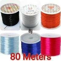70 Meter Tali Benang Karet Elastis 0.8mm Elastic String Strong
