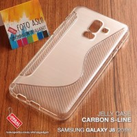 Softcase TPU S-Line Clear Gell Cover Case Casing HP Samsung J8 2018
