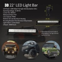 LAMPU LED BAR 120 W | LIGHT BAR 120 WATT CREE OFFROAD WATERPROOF