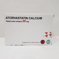 Atorvastatin calcium 20 mg tablet isi 30's
