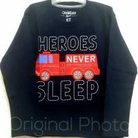 Baju kaos lengan panjang anak laki-laki HEROES NEVER SLEEP 7-10